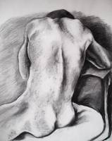 Male Nude, charcoal