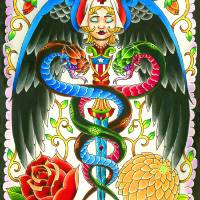 Caduceus Art Prints & Posters by Mark Harada