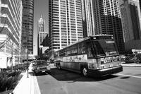 Chicago Bus and Buildings 2010 BW
