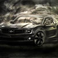 """Chevrolet Camaro Realistic Drawing"" by masaad"