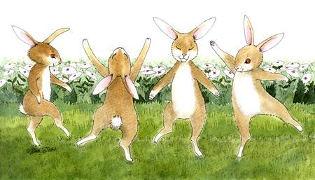 Bunny Dance by Diana Delosh