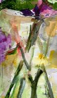 Stems Abstract Watercolor Painting by Ginette