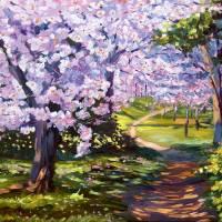 """Blossom Season - Plein Air"" by DavidLloydGlover"