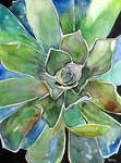 Succulent Watercolor Painting Agave Artwork Art