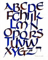 Alphabet in Red and Blue