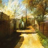 Alley and Fence Shadows by Faye Cummings