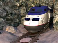 Bullettrain in Canyon