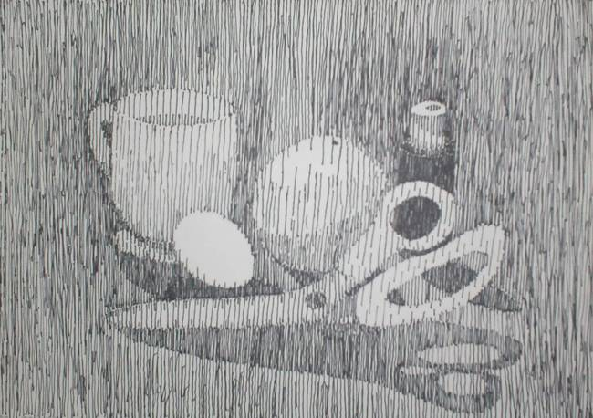 Still-life ink line art