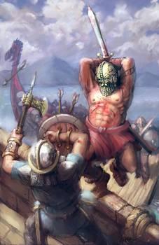 Viking Battle By Jason Zampol