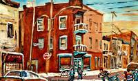 MONTREAL LANDMARKS PAINTED BY CAROLE SPANDAU STREE