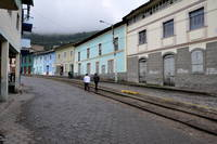 Poor Andes Mountain Town Railway