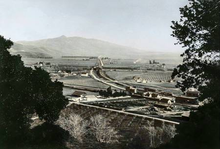 Washington Township and Mission Peak c1920