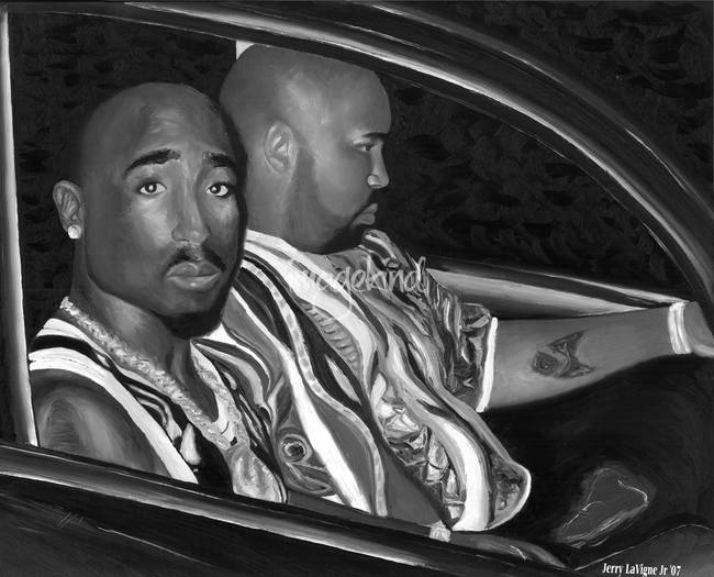Tupac limited edition blackwhite version by jerry la vigne jr