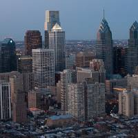 2011 Philadelphia Night Skyline 30th St. Train Sta Art Prints & Posters by Steve Bayles