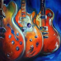 3 GUITAR ABSTRACT by Marcia Baldwin