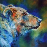 BEAR ABSTRACT by Marcia Baldwin
