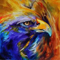 GOLDEN EAGLE ABSTRACT by Marcia Baldwin