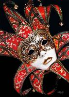 Crimson Carnivale Mask