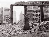 Woman in Rubble, San Francisco, April 1906 by WorldWide Archive