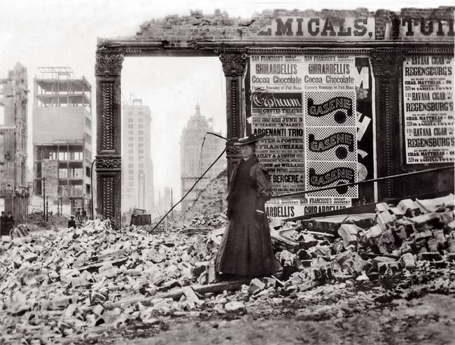 Woman in Rubble, San Francisco, April 1906