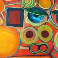 orange bob by Louise Dionne