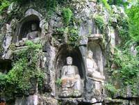 Buddhas carved in stone