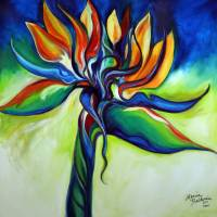 BIRD OF PARADISE REVISITED by Marcia Baldwin