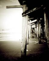 Beneath the Pier - Sepia