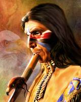Native Musician Painting