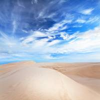 Beautiful sandy desert at day time