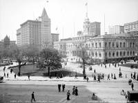 CITY HALL PARK NYC 1905