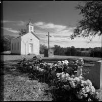 """Settlers Catholic Church, Blanco County, Texas"" by eyesea"