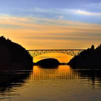 """""""Deception Pass Bridge at Sunset"""" by CaptureLife"""