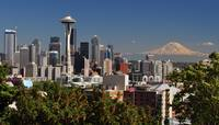 Seattle Cityscape and Mt. Rainier