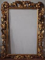 Aged Hand Carved Frame With Gold Leaf