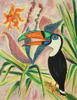 Tropical Birds and Plant