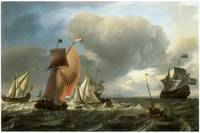 Ships at Sea by Ludolf Backhuysen