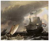 Dutch Vessels on a Stormy Sea