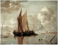 Shipping in Calm Waters of an Estuary