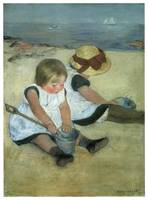 Children at the Seashore by Mary Cassatt