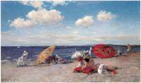 At the Seaside by William Merritt Chase