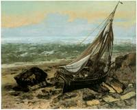 The Fishing Boat by Gustave Courbet