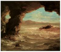 Shipwreck on the Coast by Eugene Delacroix