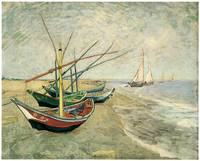 Boats on the Beach at Saintes-Maries