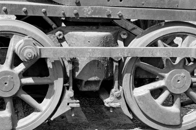 wheels black and white