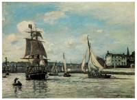 Entrance to Honfleur Harbor by Johan Barthold Jong