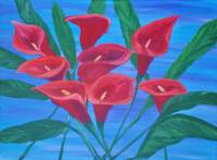 Red Calla Lillies