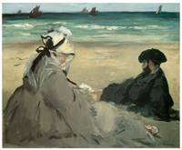 On the Beach at Berck by Edouard Manet