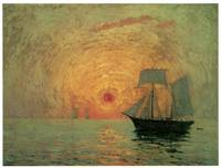 Red Sun over the Sea by Maxime Maufra