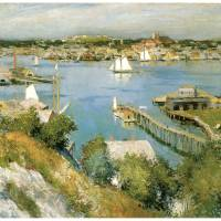 """""""Gloucester Harbour by William Leroy Metcalf"""" by ArtLoversOnline"""